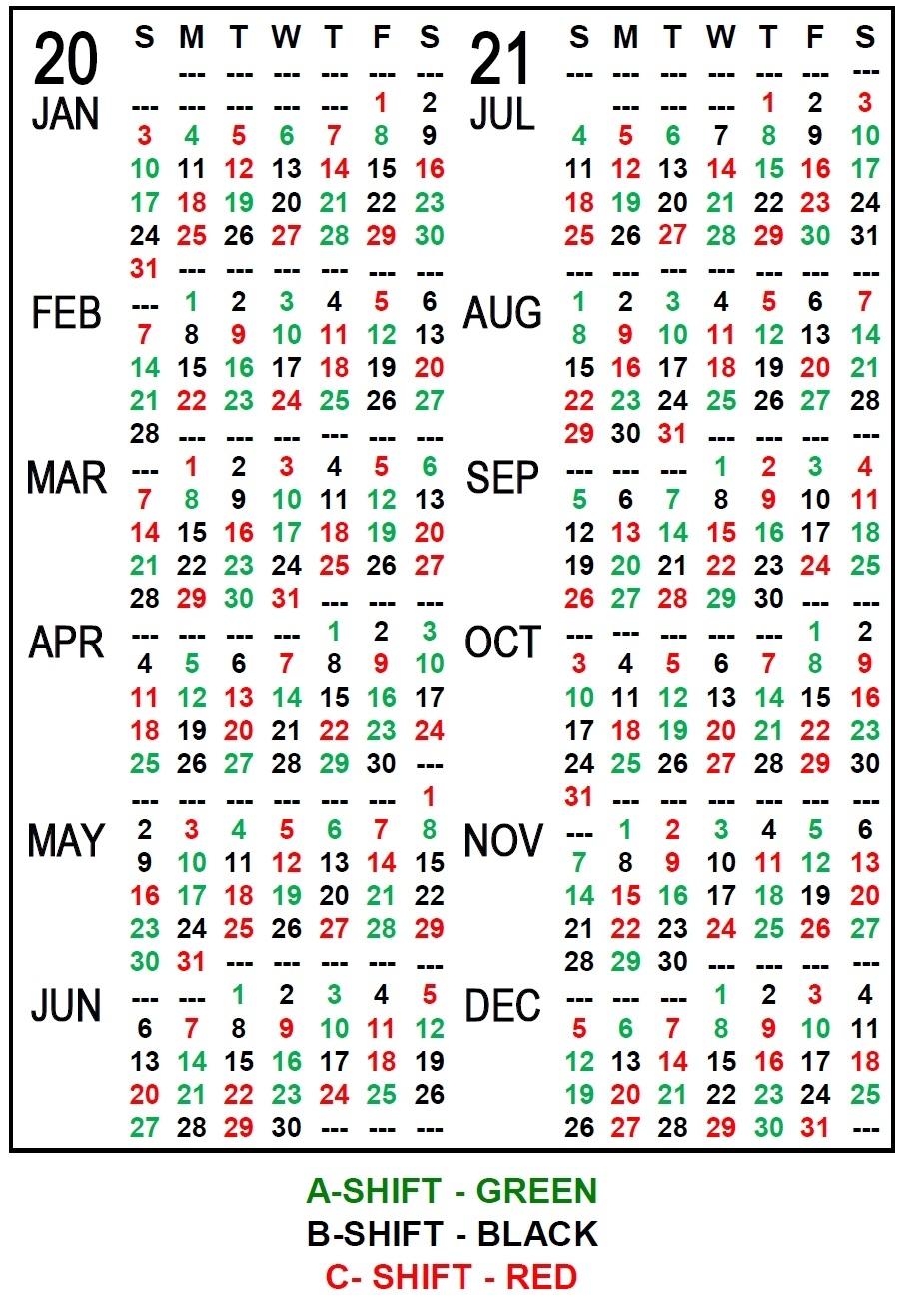 Catch Fire Department Calendar 24/48 Shift