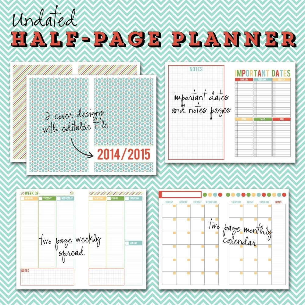 Catch Free 5X8 Weekly Planner Printables