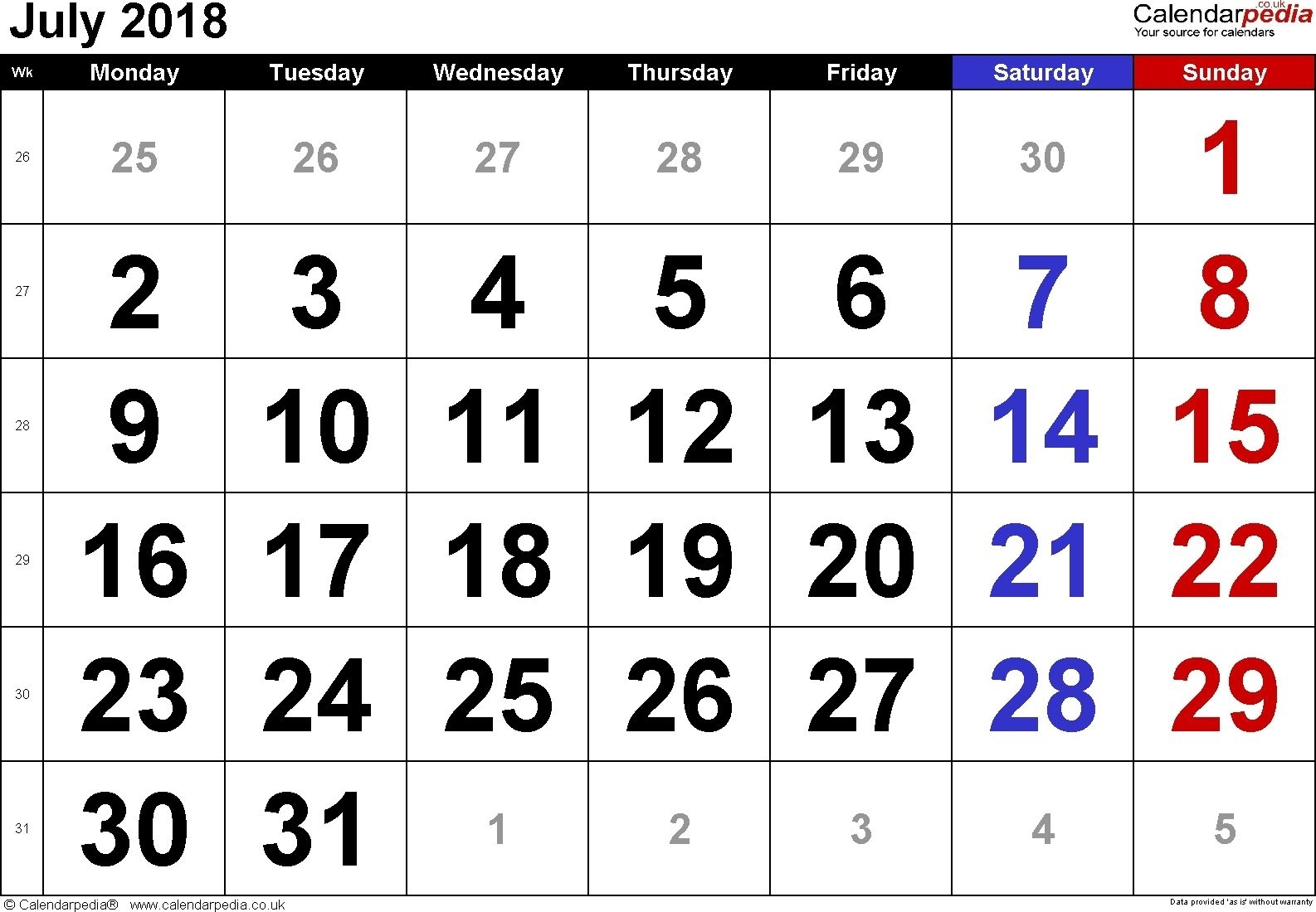Catch Free Large Number Printables Calendar