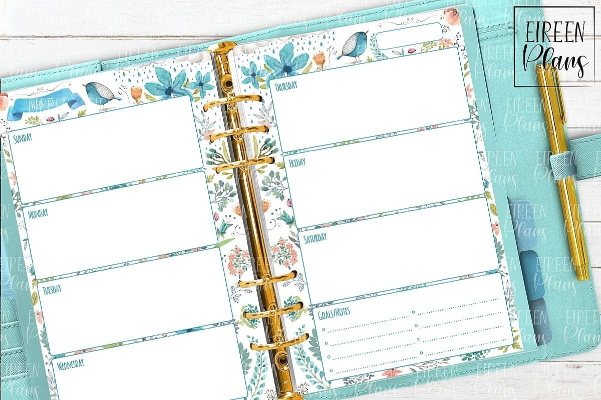 Catch Free Online 5.5X8.5 Planner Pages