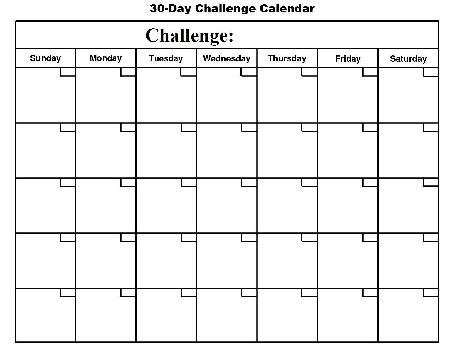 Catch Free Printable 30 Day Calendar