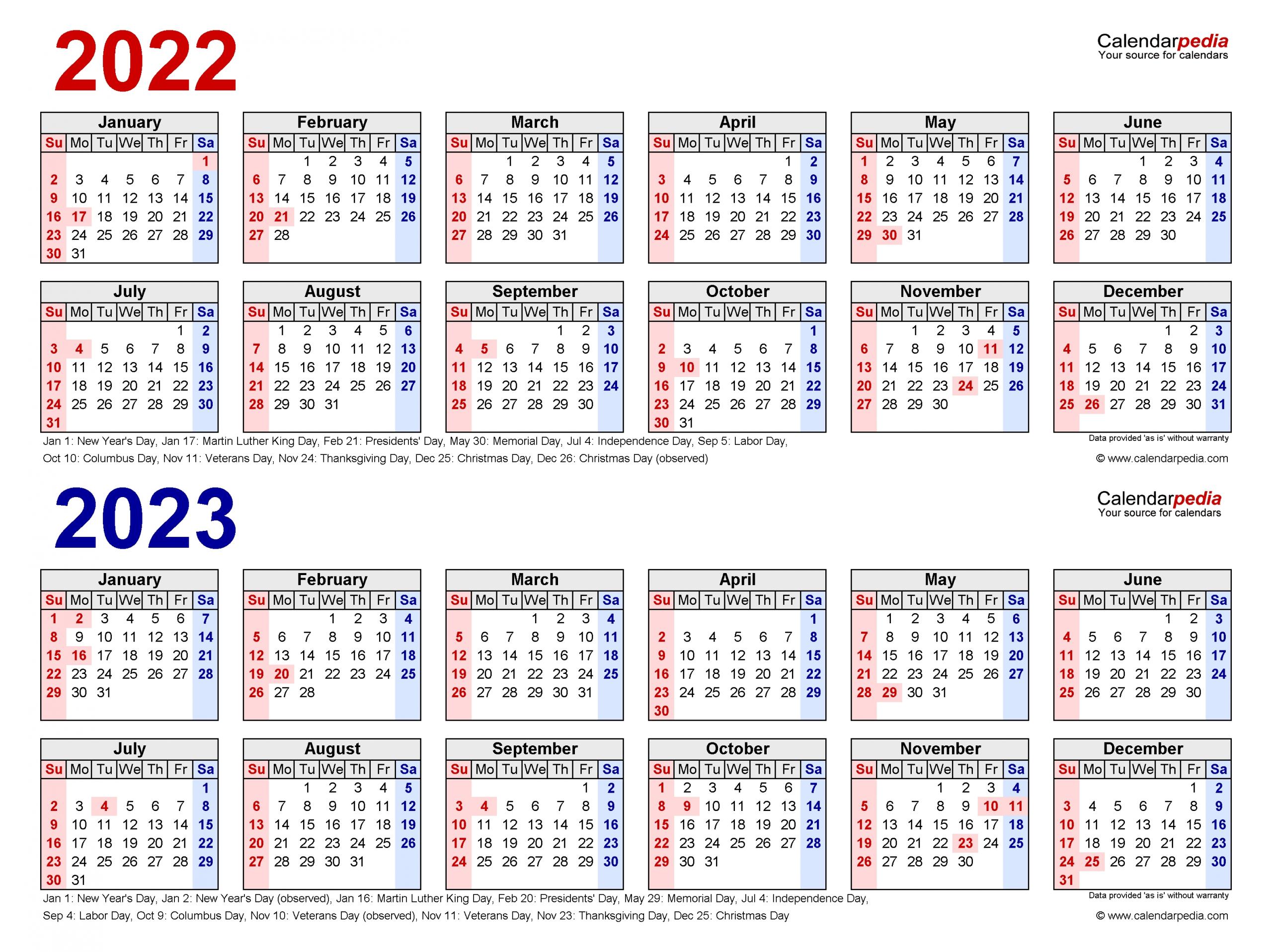 Catch Free Printable Calendar 2022 And 2023