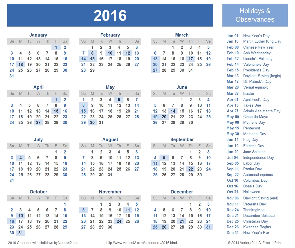 Catch Free Printable Holiday Calendars