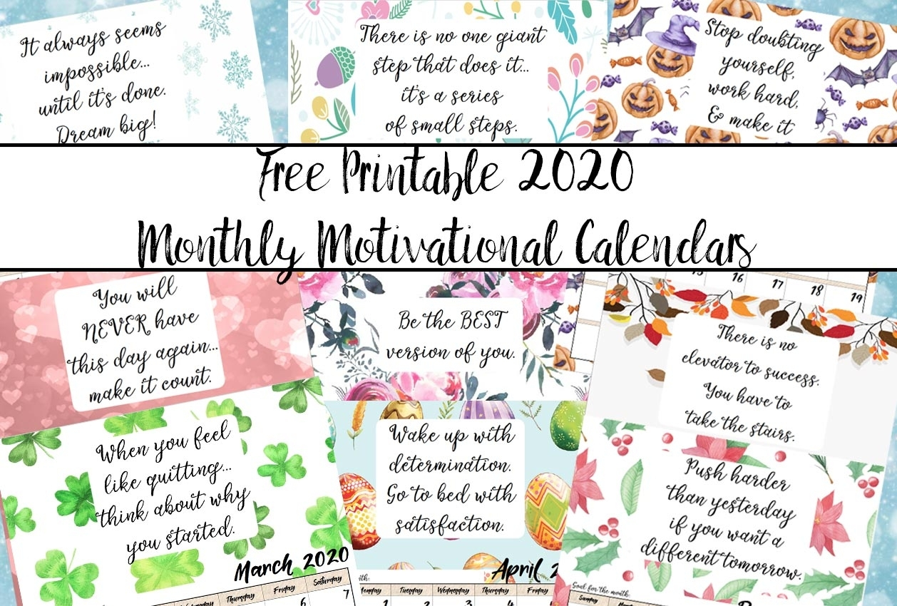 Catch Free Printable Inspirational Calendar