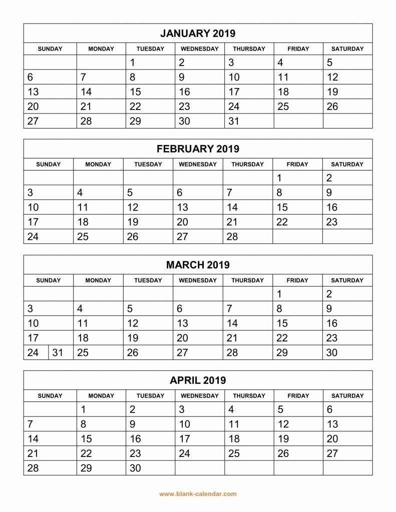 Catch Free Printable Large Grid Calendar