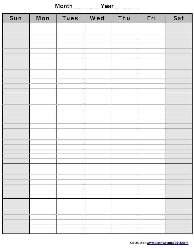 Catch Free Printable Monthly Calendar With Lines