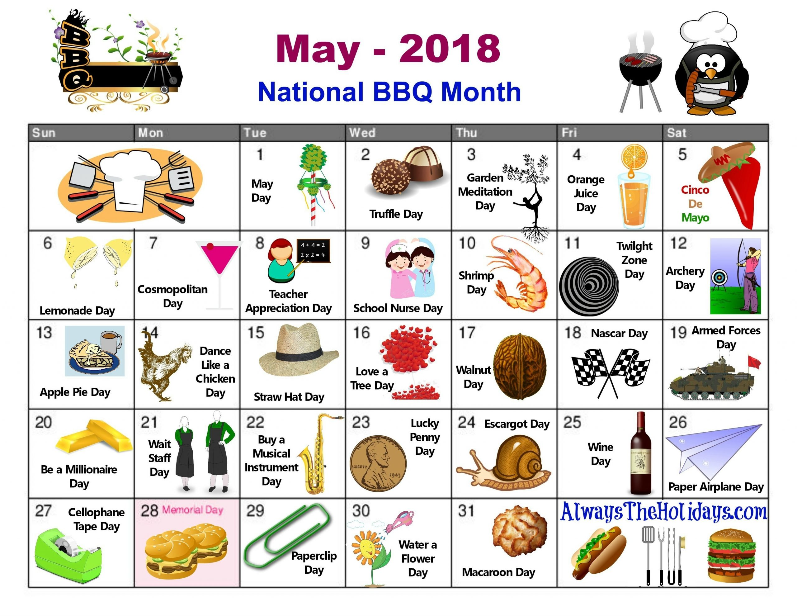 Catch Free Printable National Day Calendar