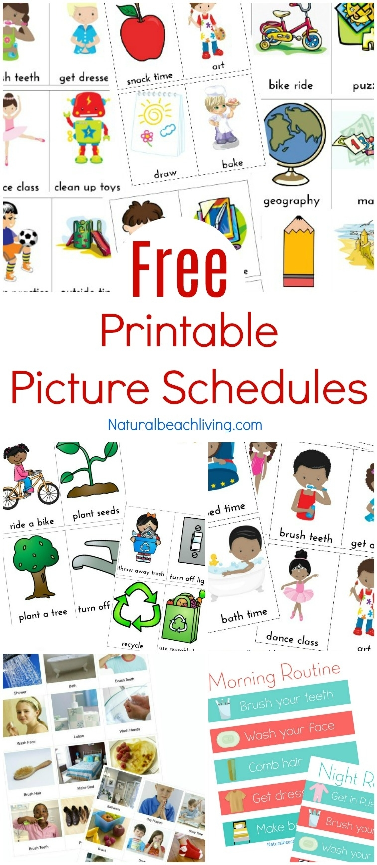Catch Free Printable Picture Schedules For Children