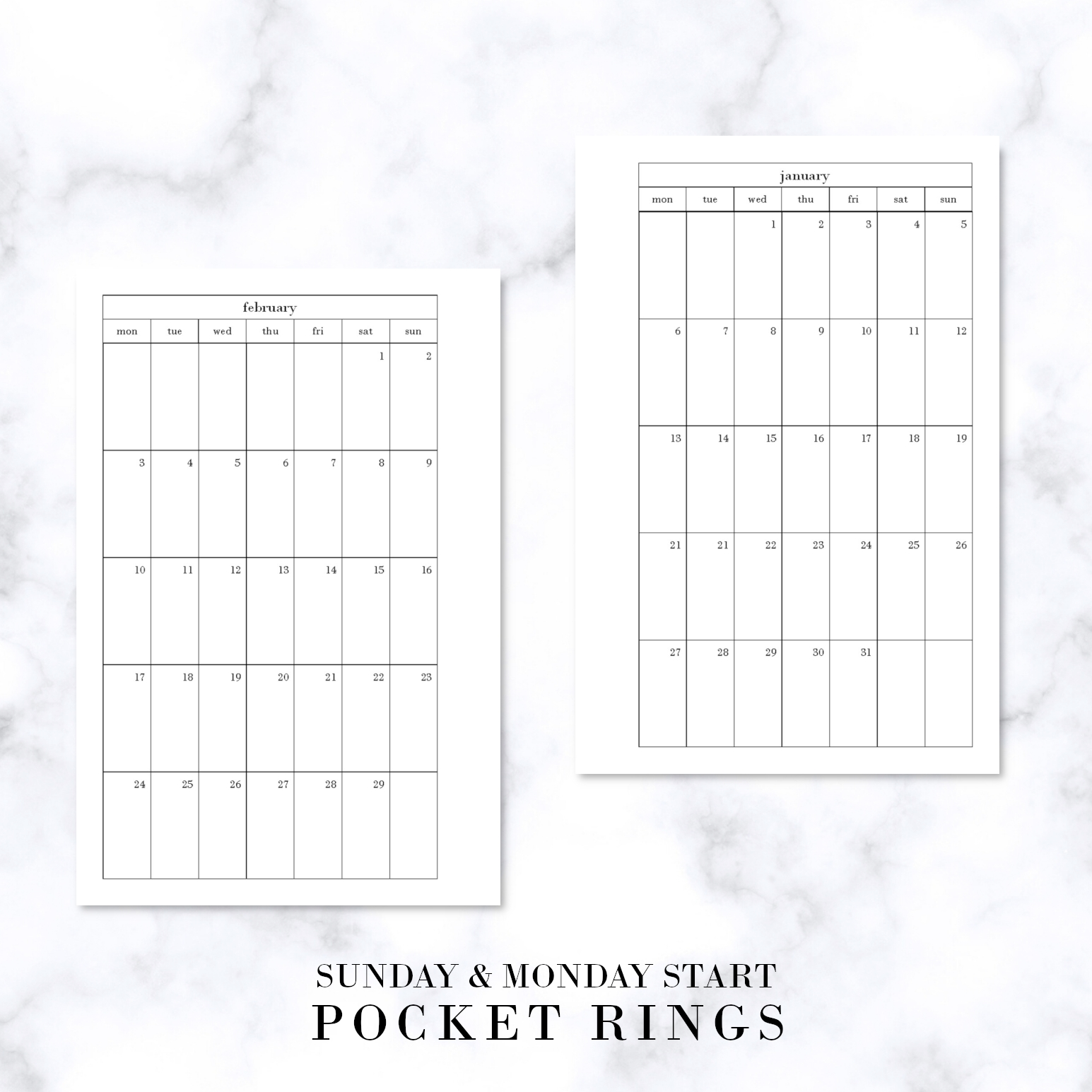 Catch Free Printable Pocket Planner