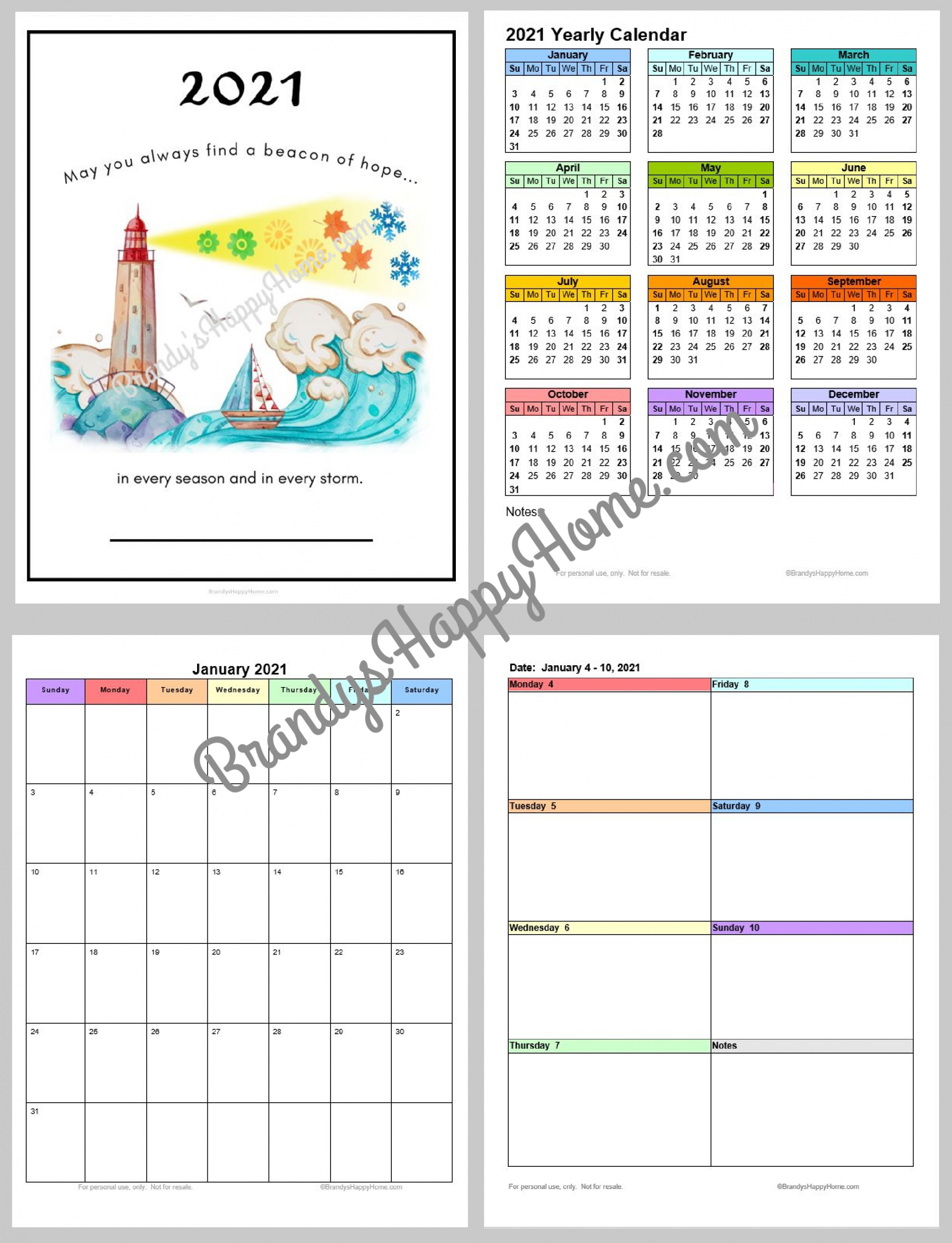 Catch Free Printable Pocket Size Calendars