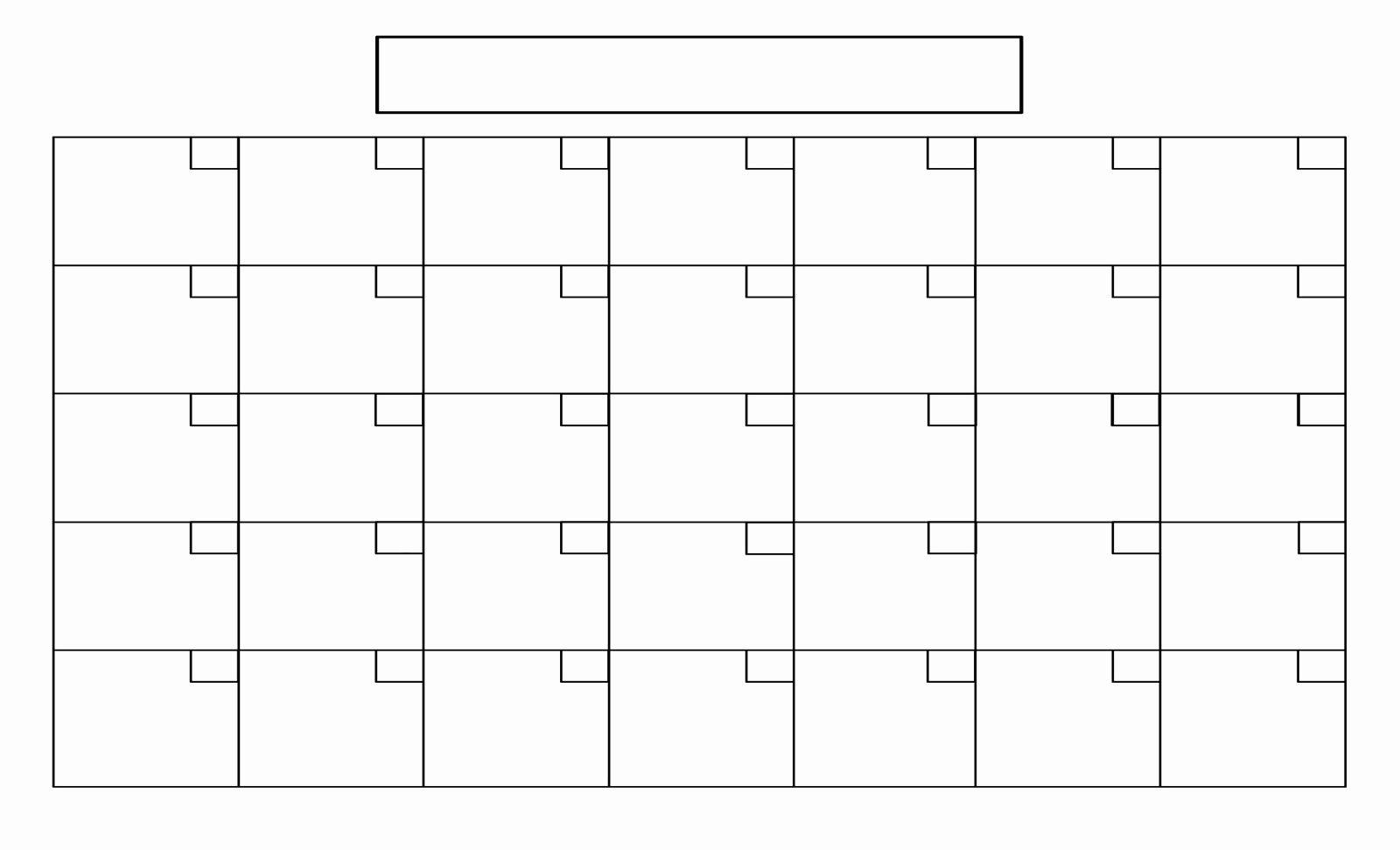 Catch Full Size Blank Printable Calendar