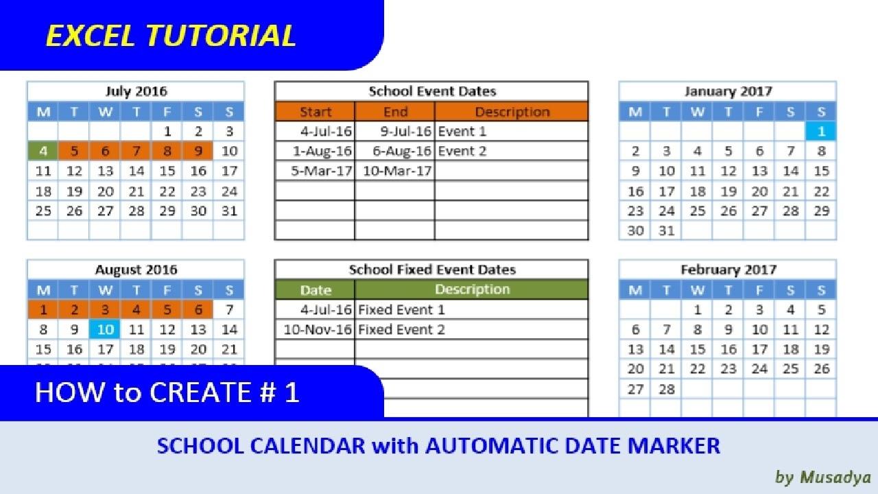 Catch How To Make School Calendar