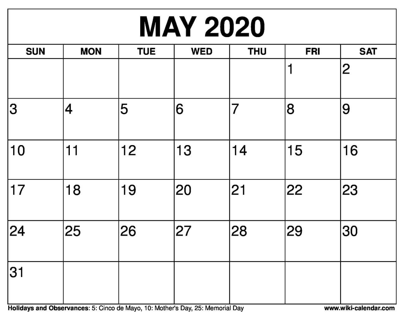 Catch January Through May 2021 Calendar