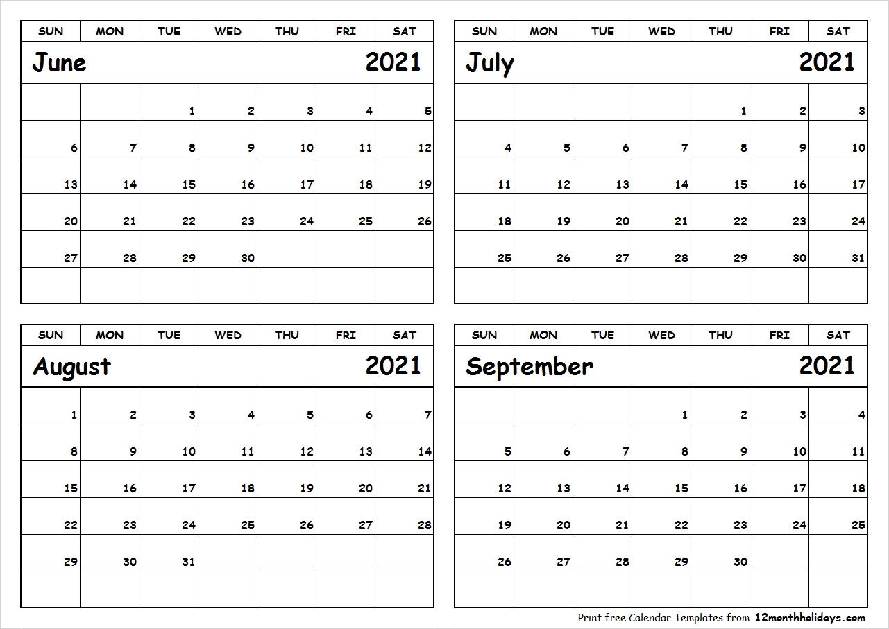 Catch June To September 2021 Calendar