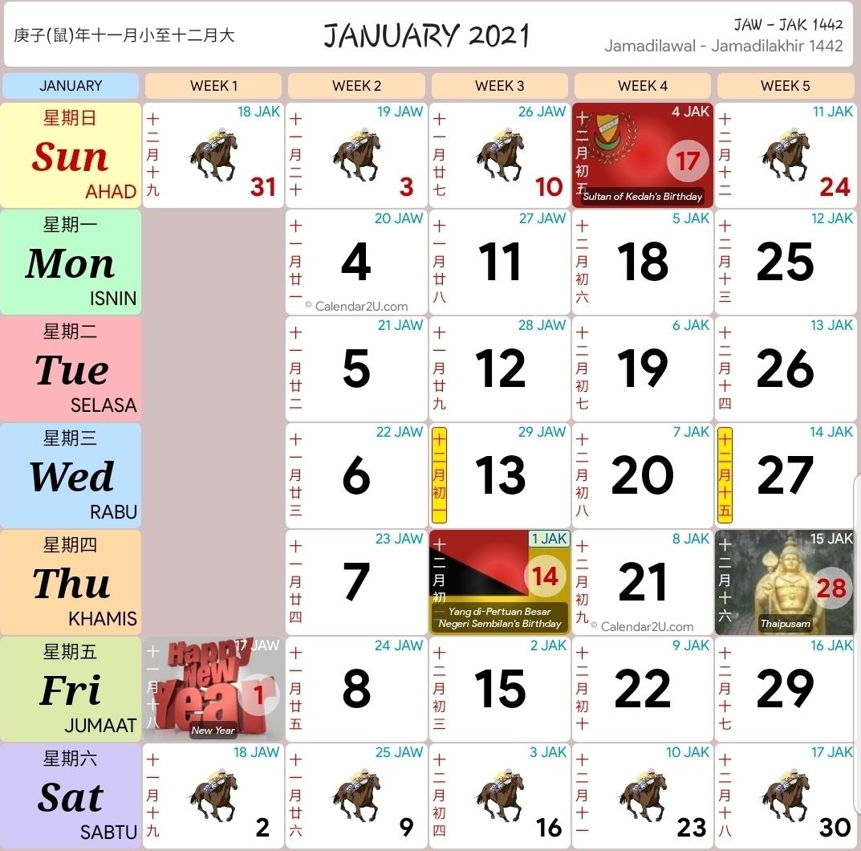 Catch Kalendar Kuda 2021