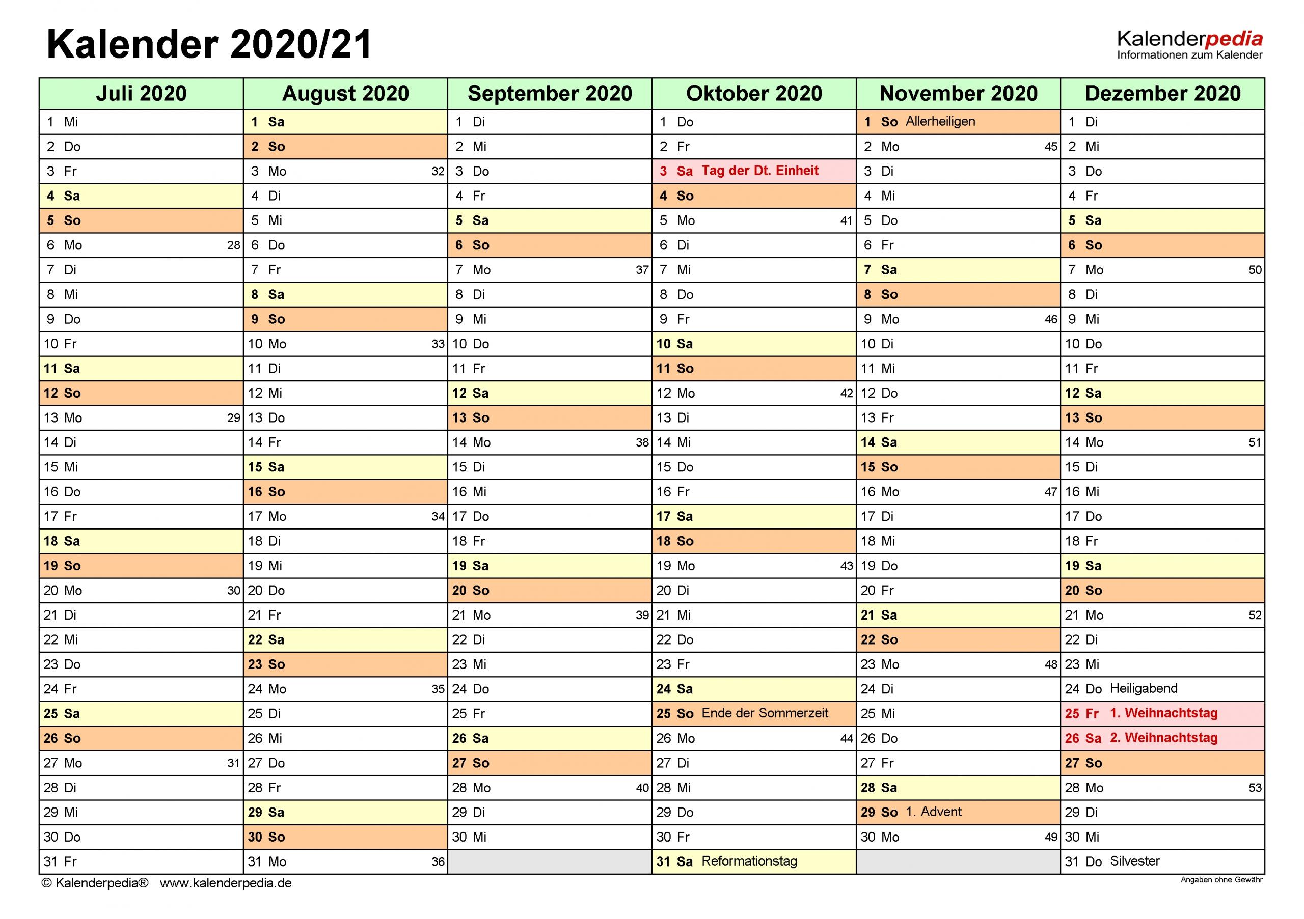 Catch Kalender 2021 Ab Juli