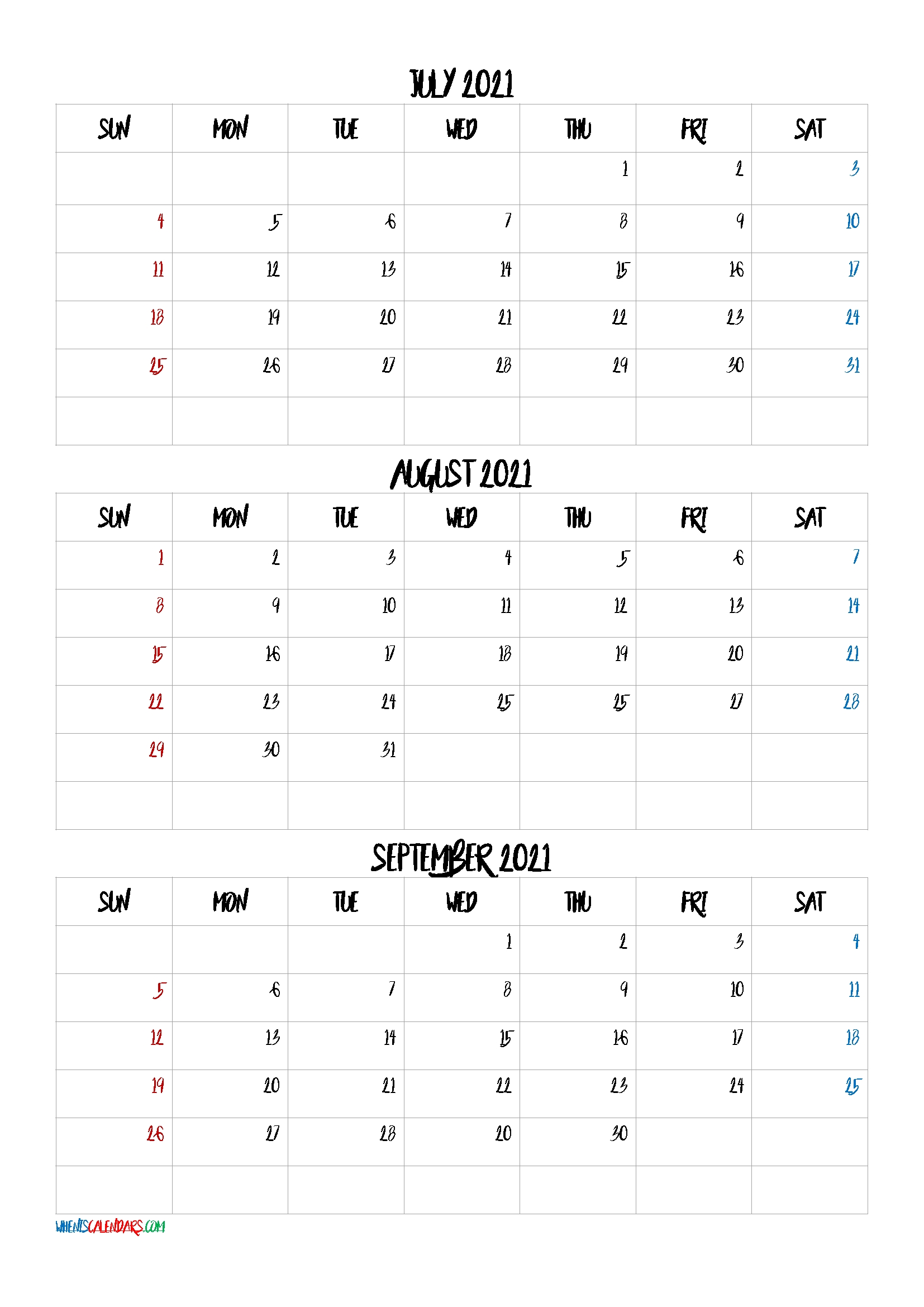 Catch Kalender 2021 August September