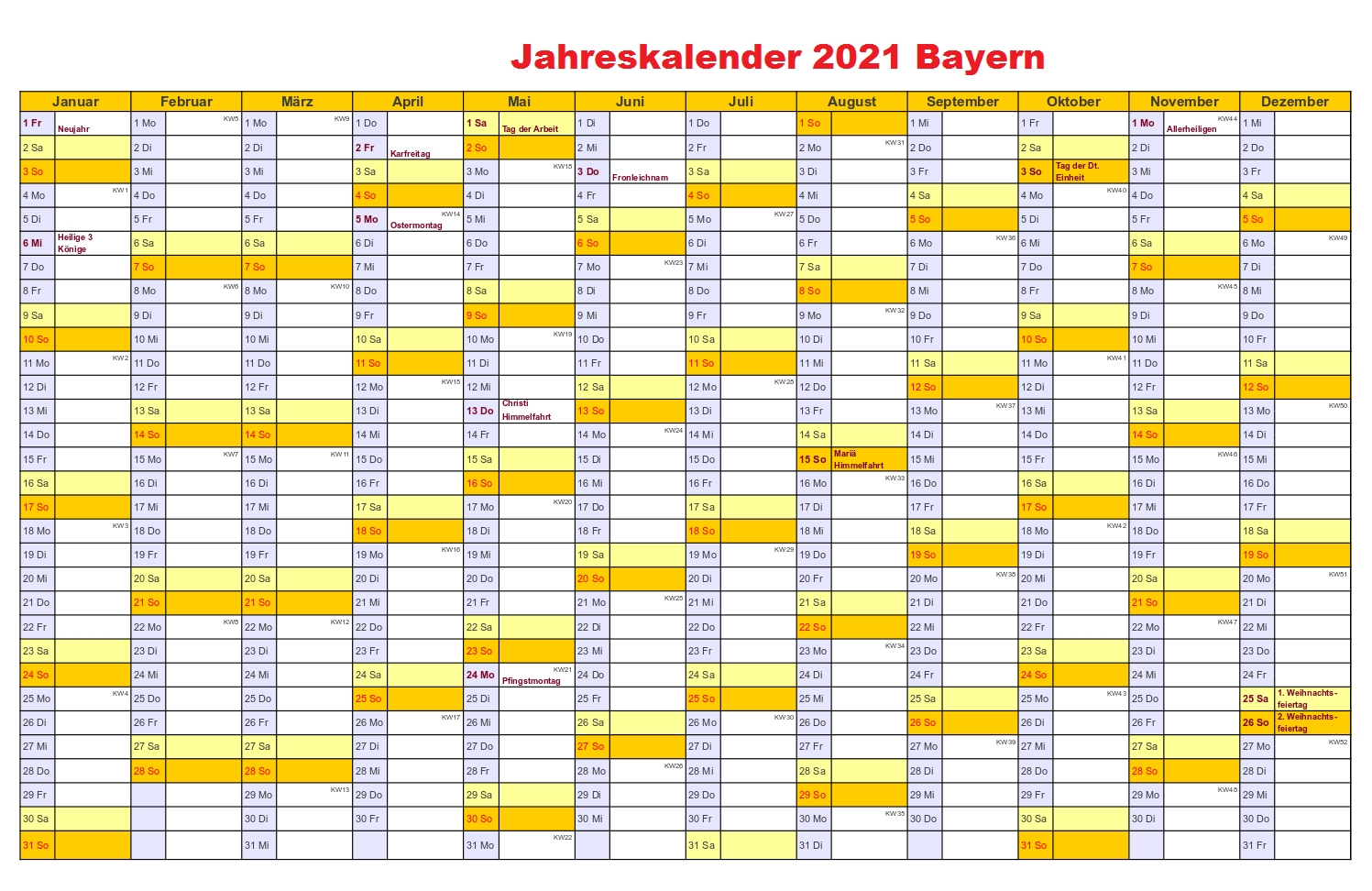 Catch Kalender 2021 Zum Ausdrucken