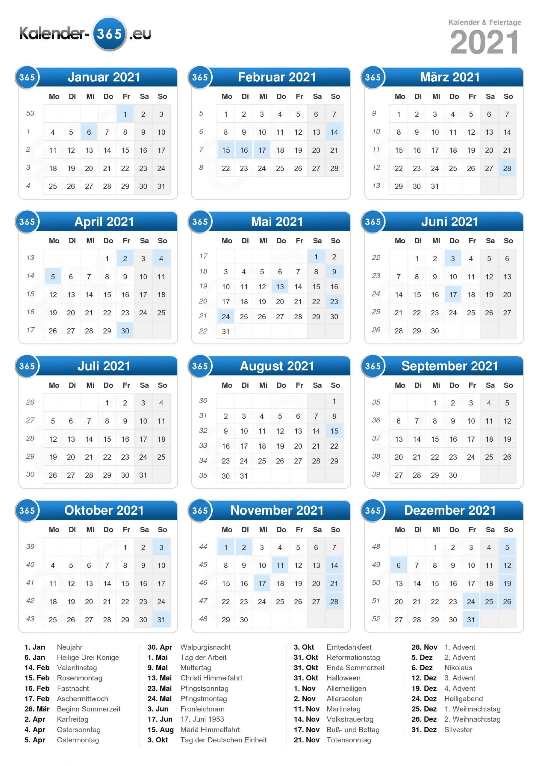 Catch Kalender Deutsch 2021