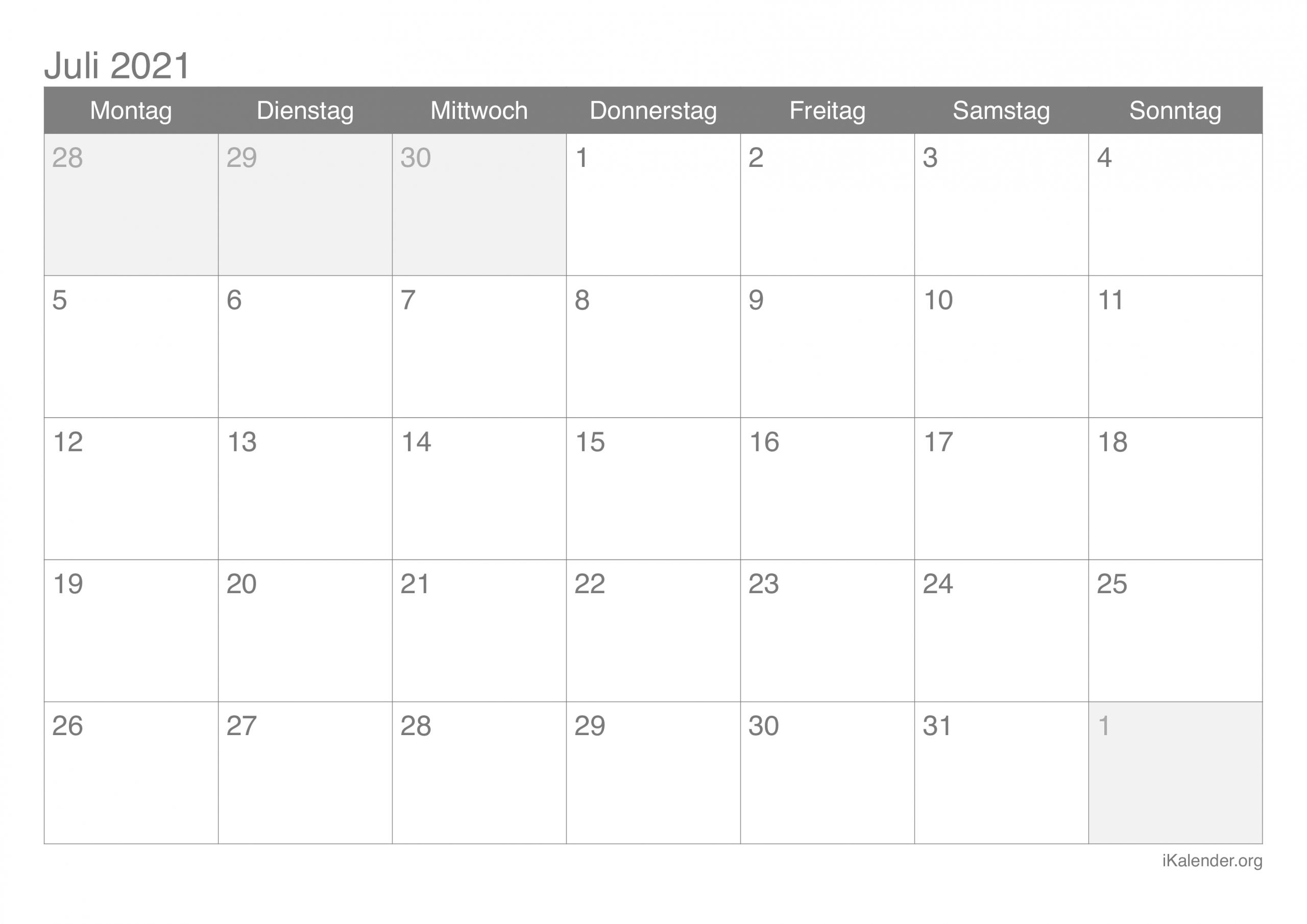 Catch Kalender Juli 2021