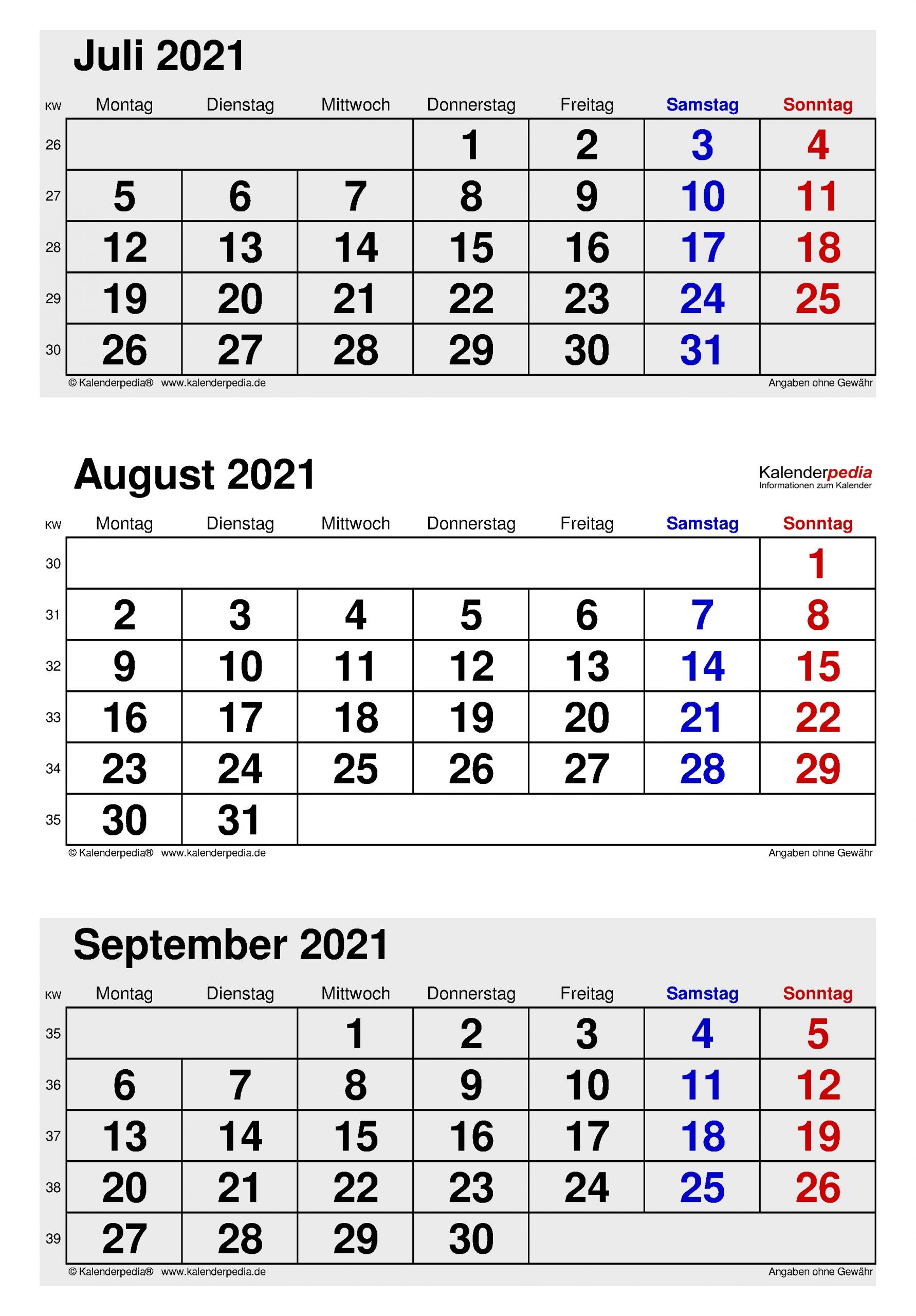 Catch Kalender Juli/August 2021