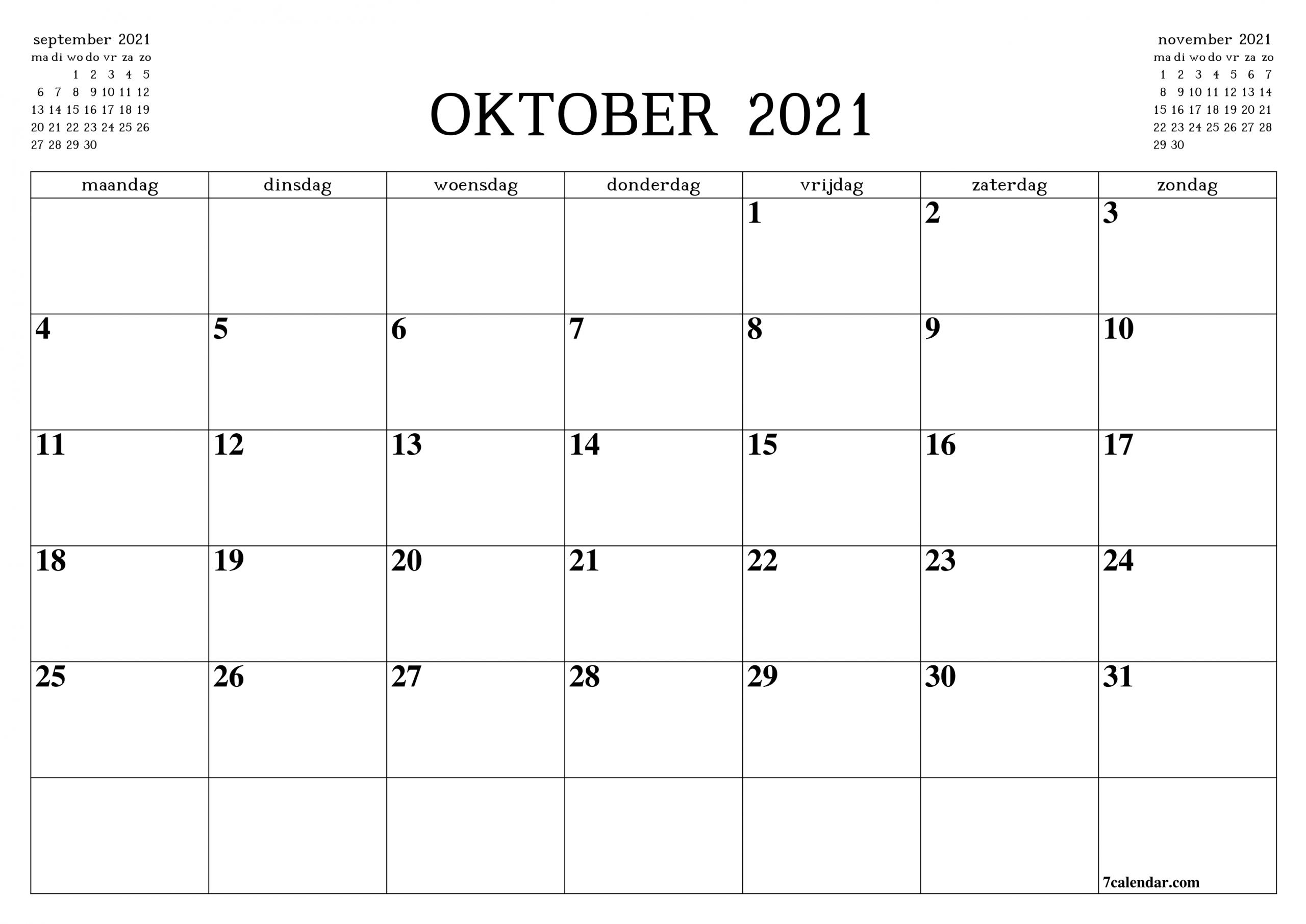 Catch Kalender Oktober 2021