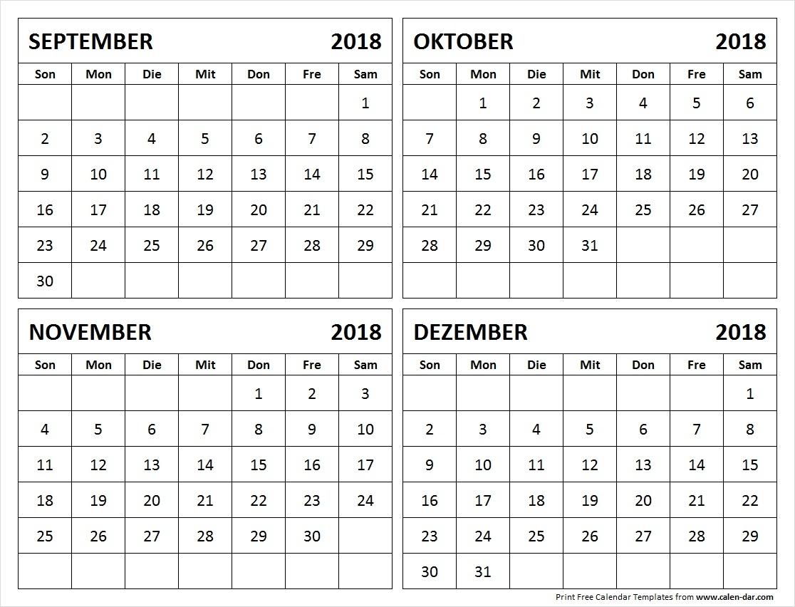 Catch Kalender September Oktober November Dezember 2021