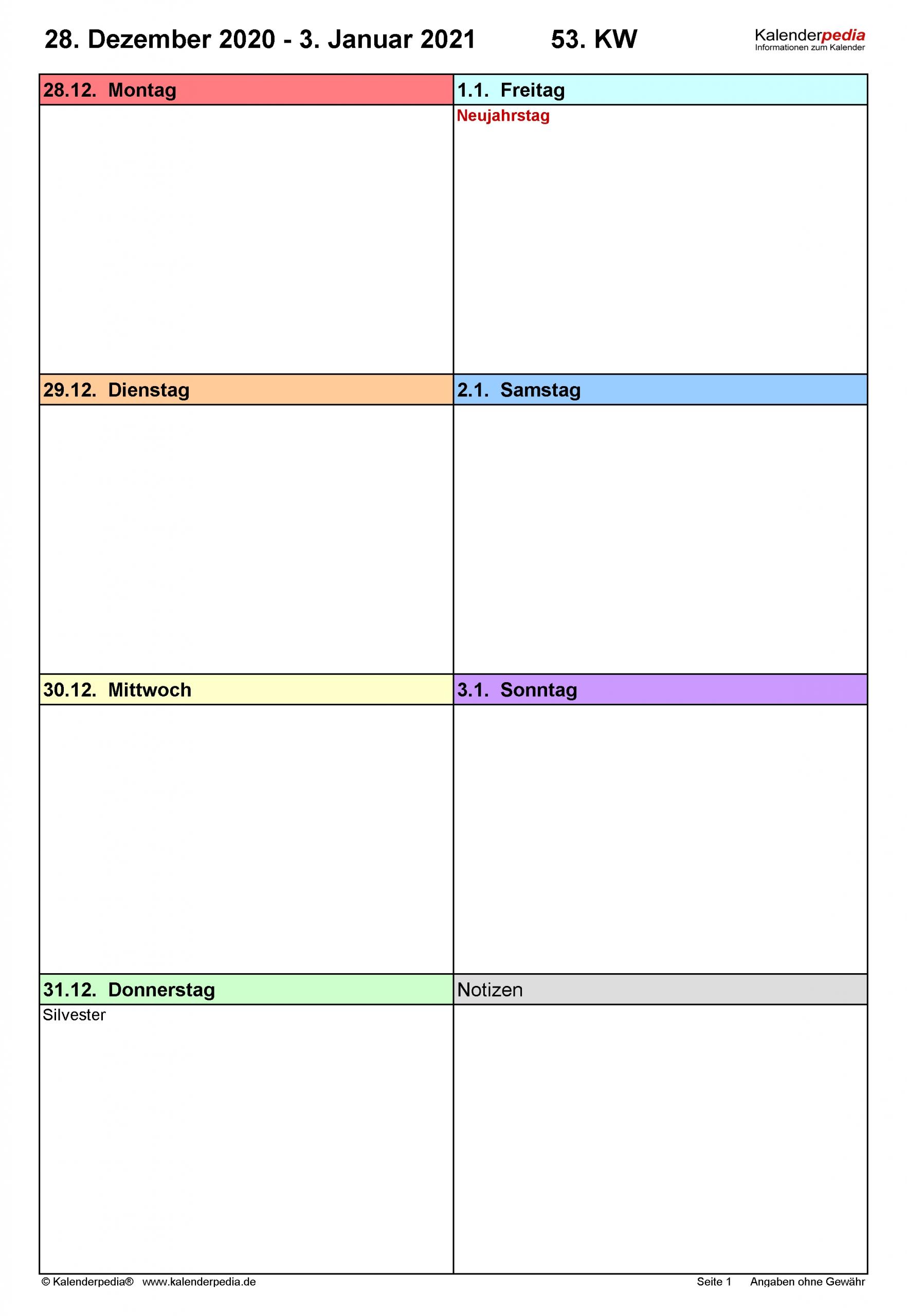 Catch Kalender Wochenübersicht August 2021 Zum Ausdrucken