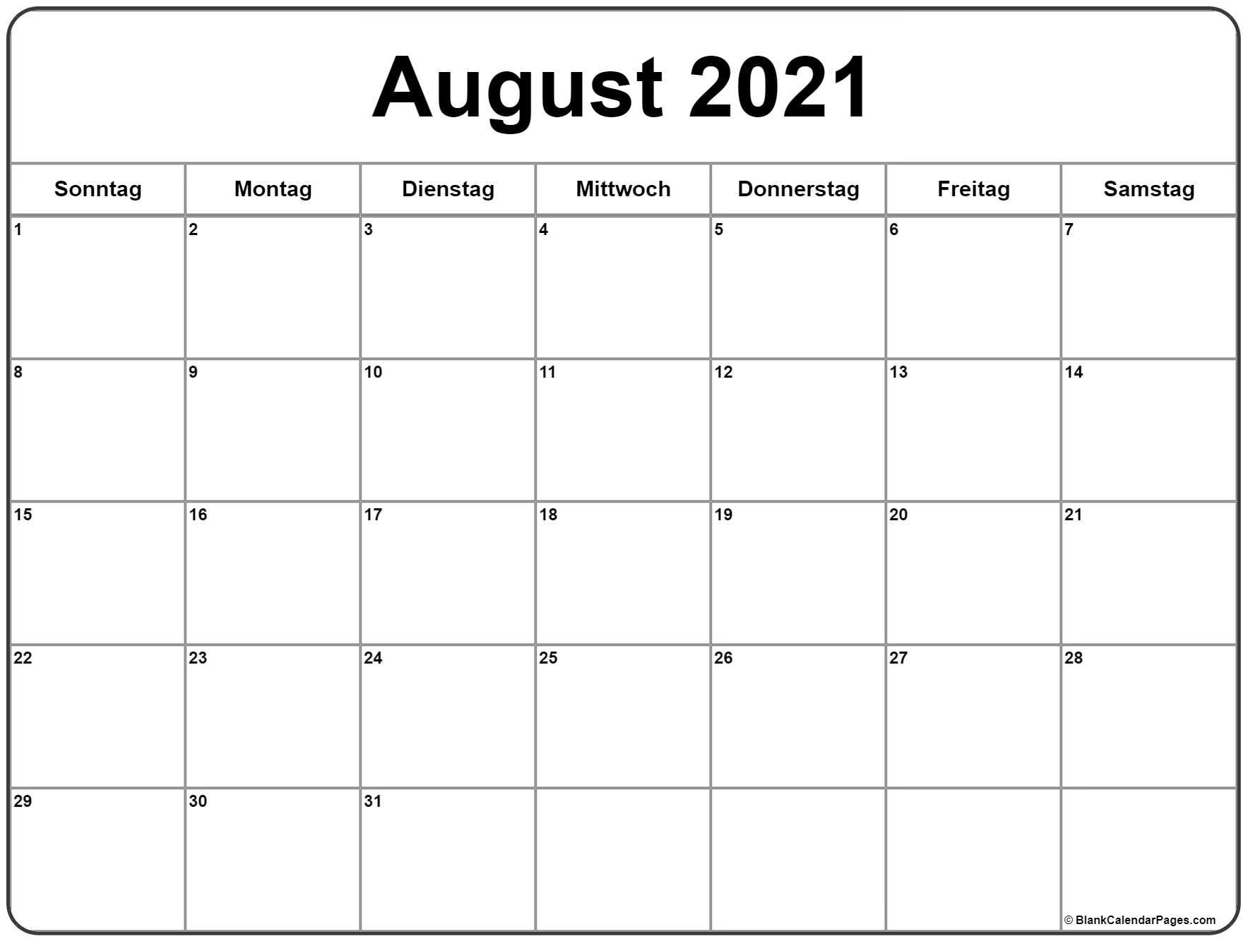 Catch Kalenderblatt August 2021 Zum Ausdrucken