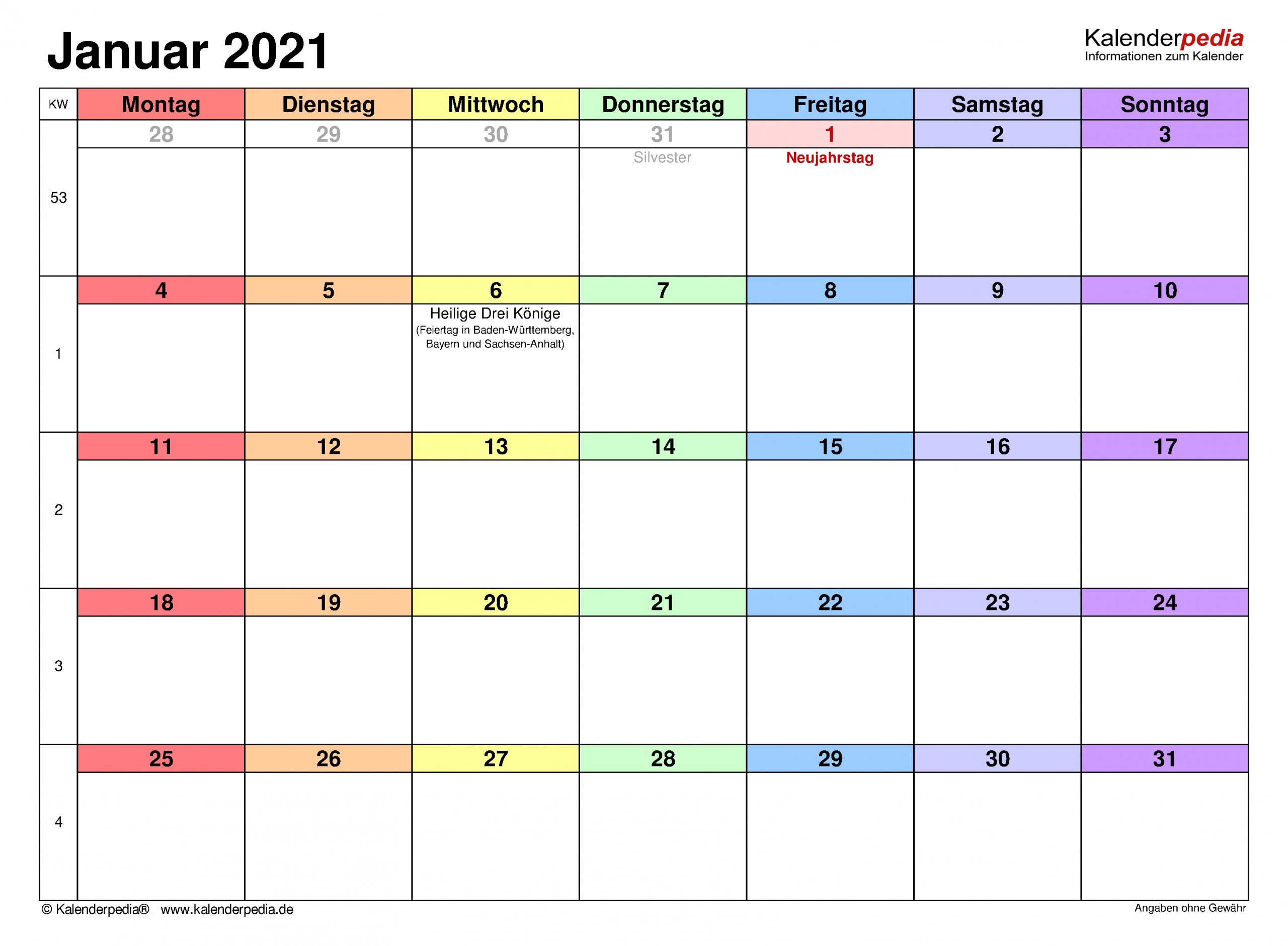 Catch Kalenderblätter Monat 2021 Drucken