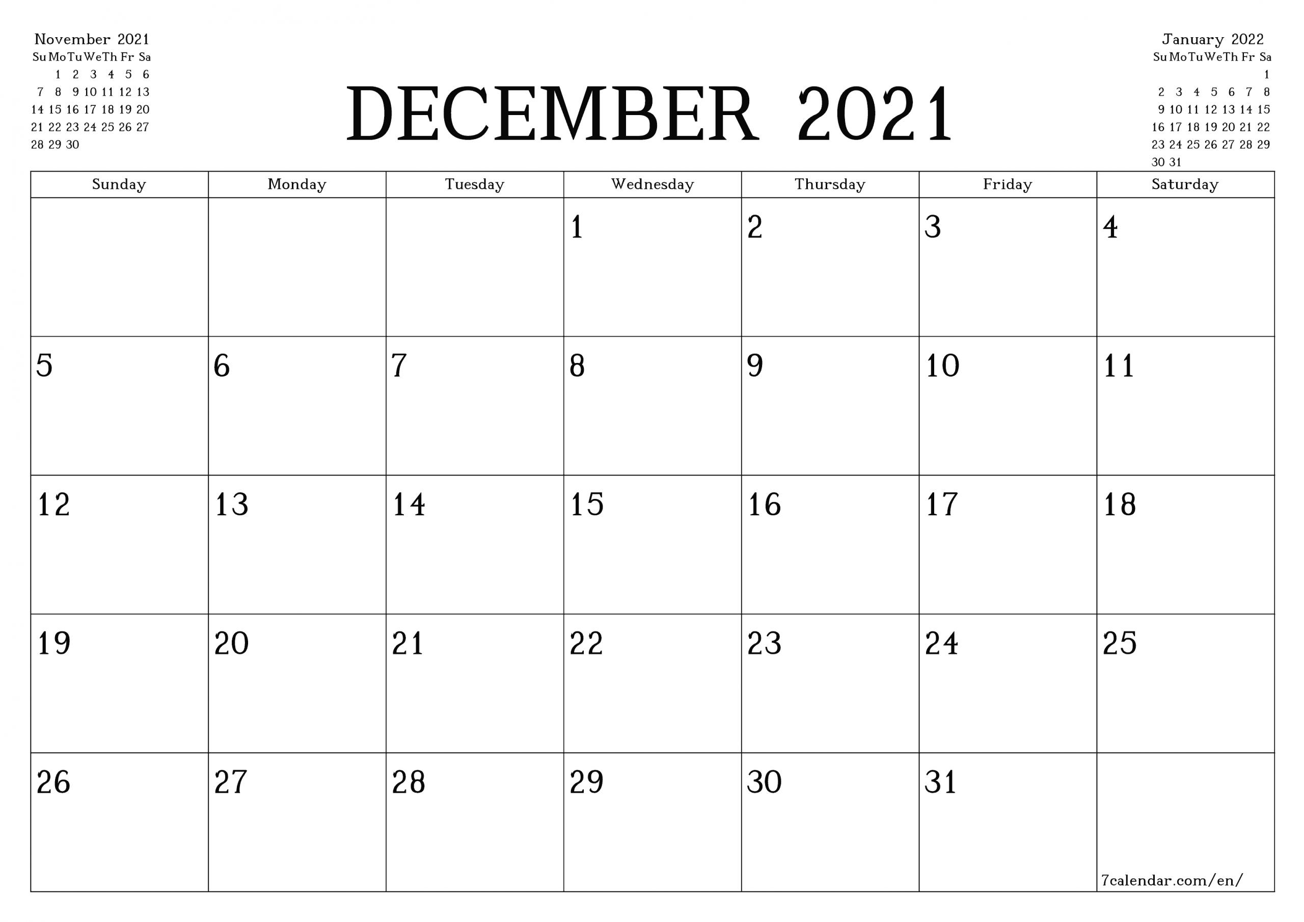 Catch Legal Size December 2021 Calendar