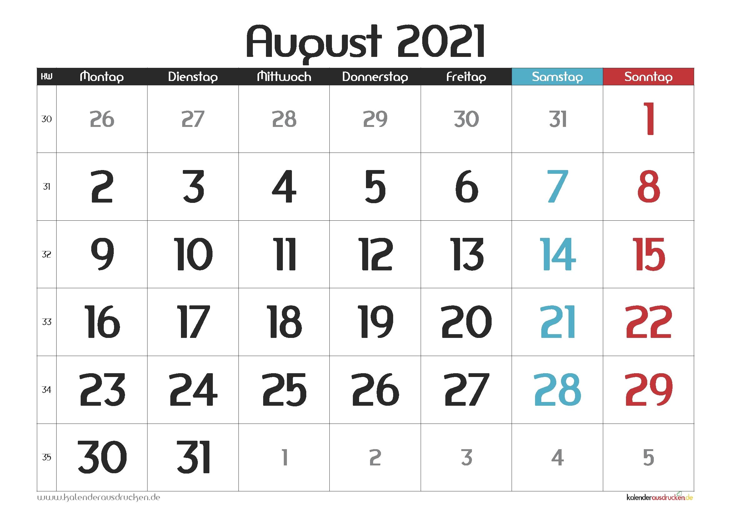Catch Monatskalender August 2021 Pdf