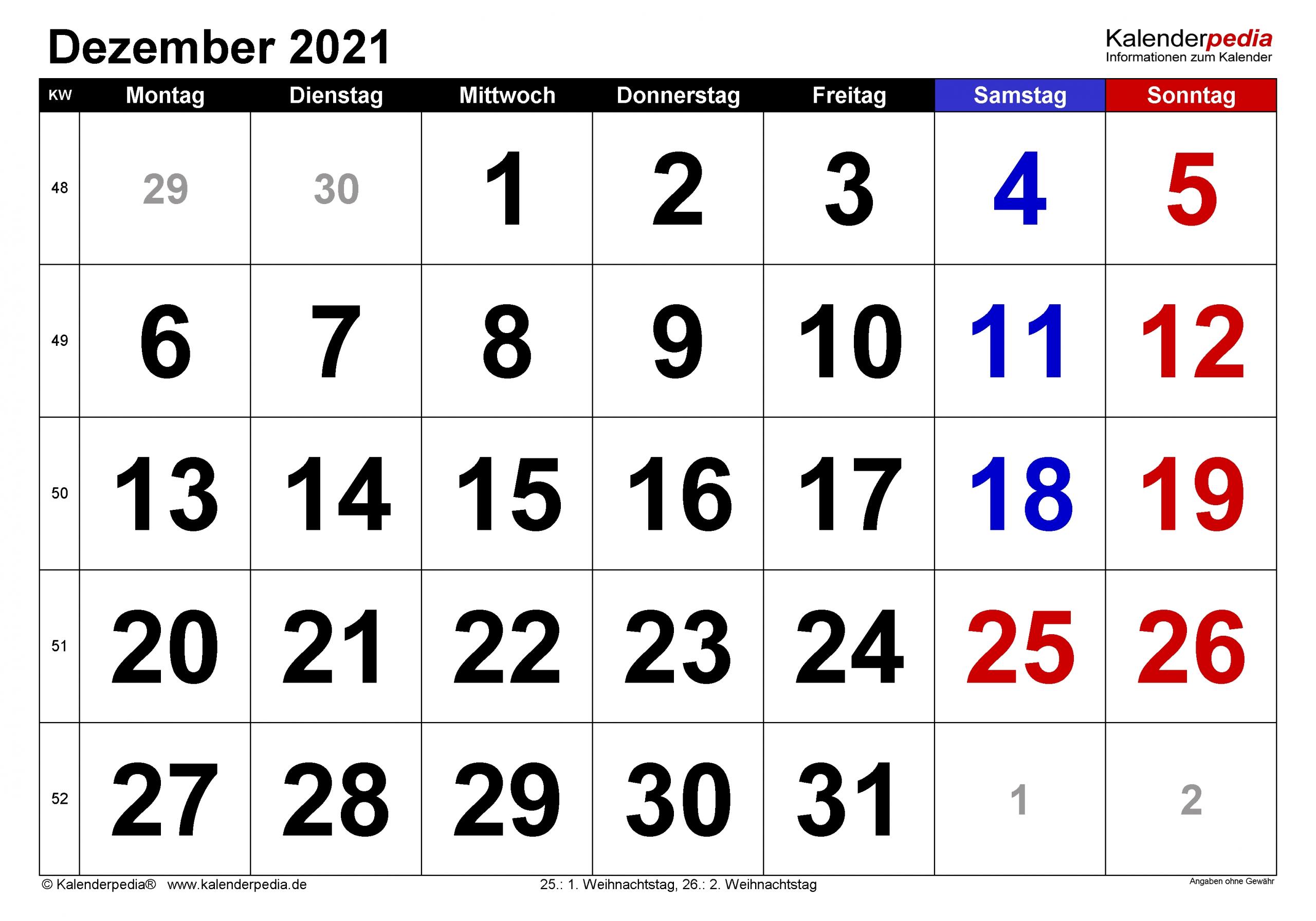Catch Monatsübersicht Dezember 2021 Druckvorlage