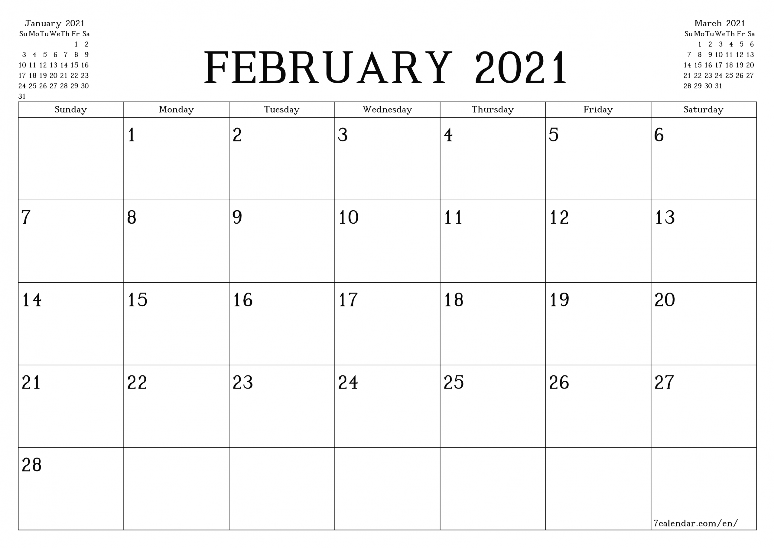 Catch Monthly 2021 Printable Calendars