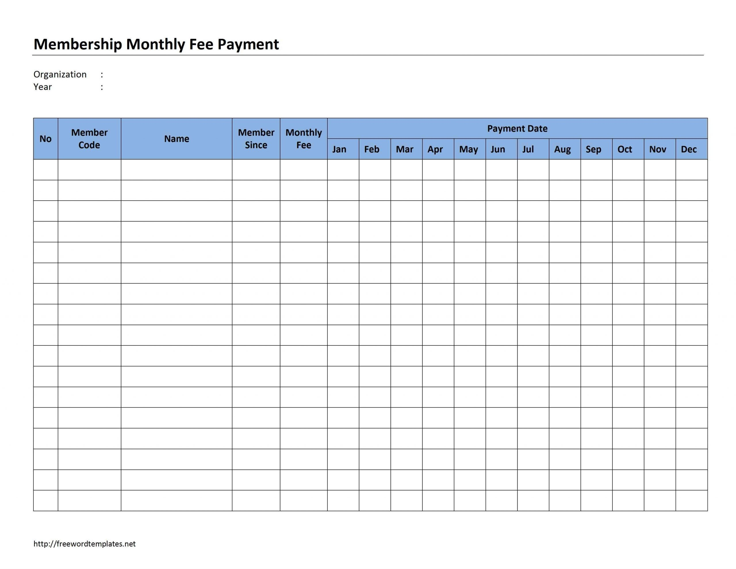 Catch Monthly Bill Paying Worksheet