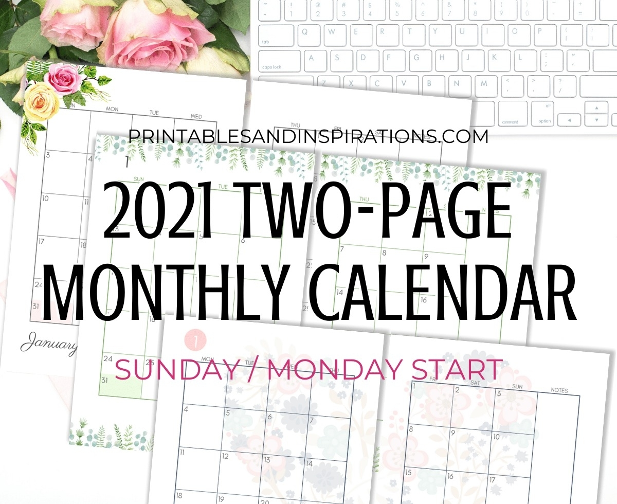 Catch Monthly Calendar Printable 2021