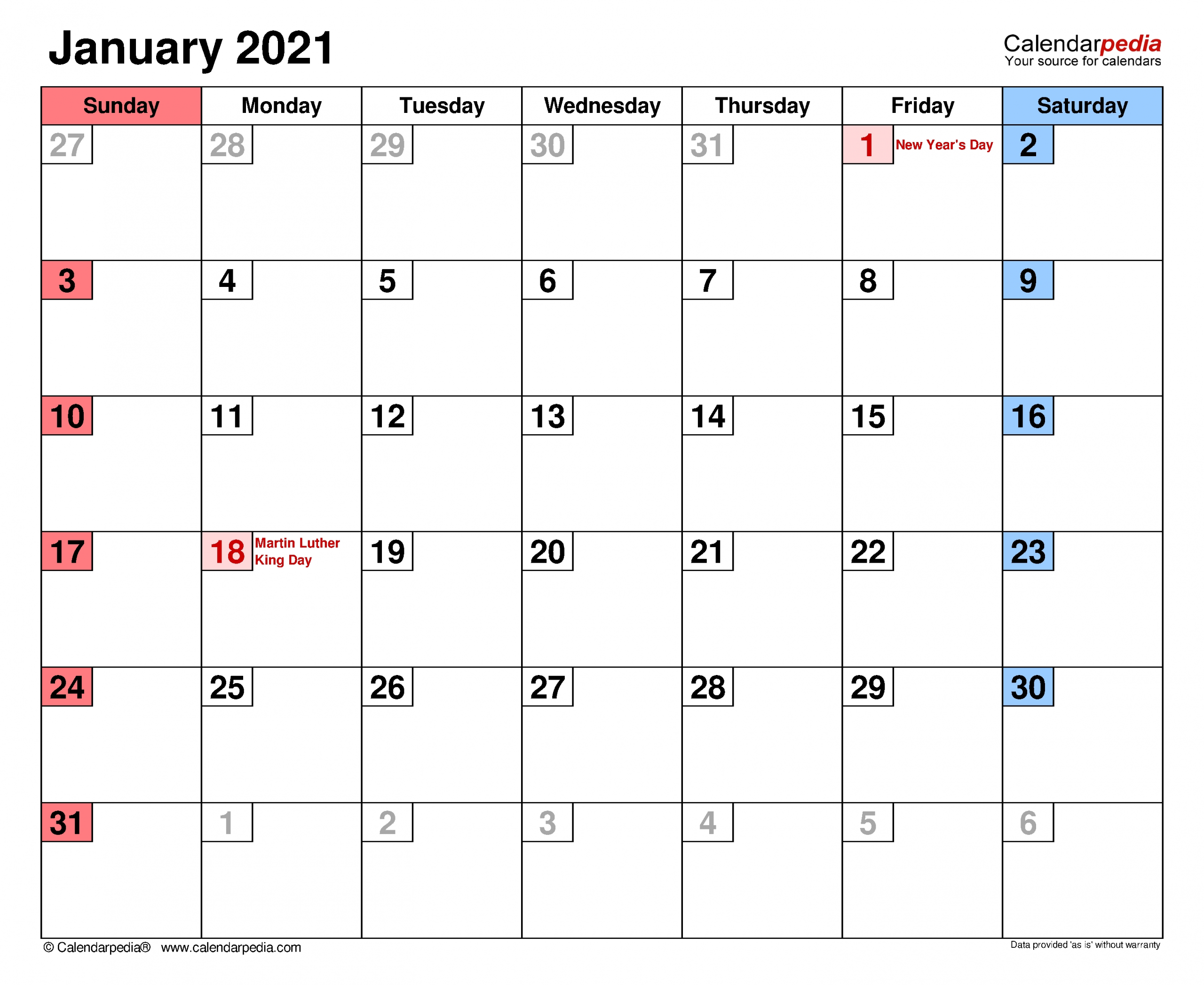 Catch Monthly Calendar With Writing Space Printable 2021