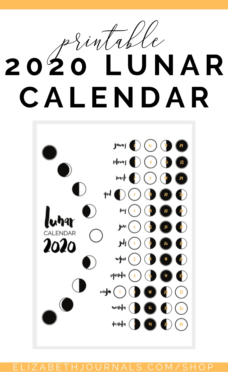 Catch Moon Cycle Calendar Print