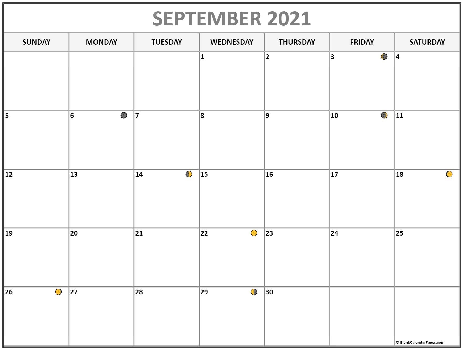 Catch Moon Phases September 2021