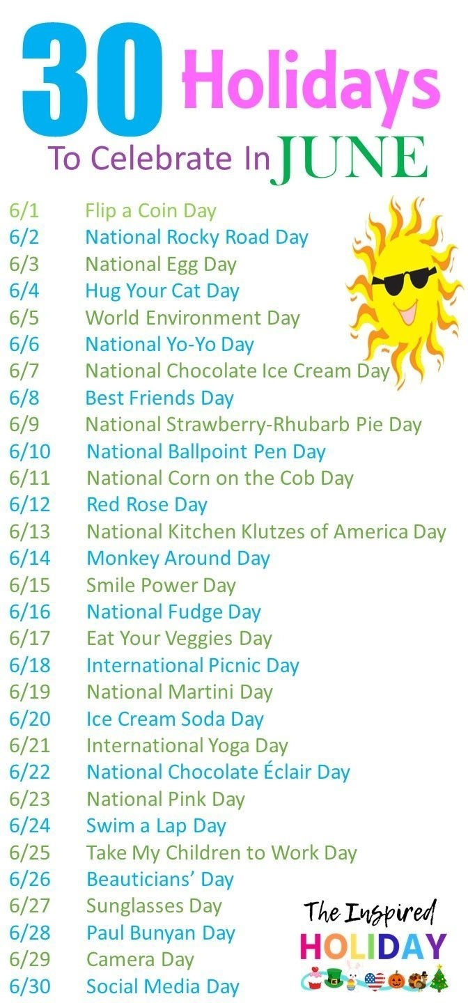 Catch National Days In June