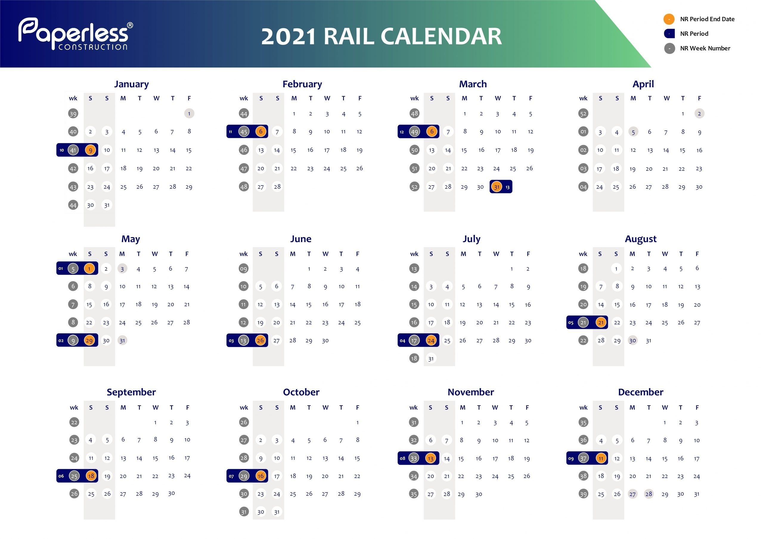 Catch Network Rail Week Numbers 2021