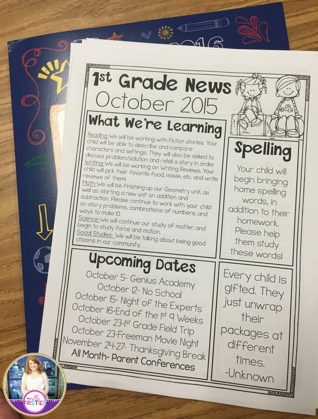 Catch Newsletter For Class 1St