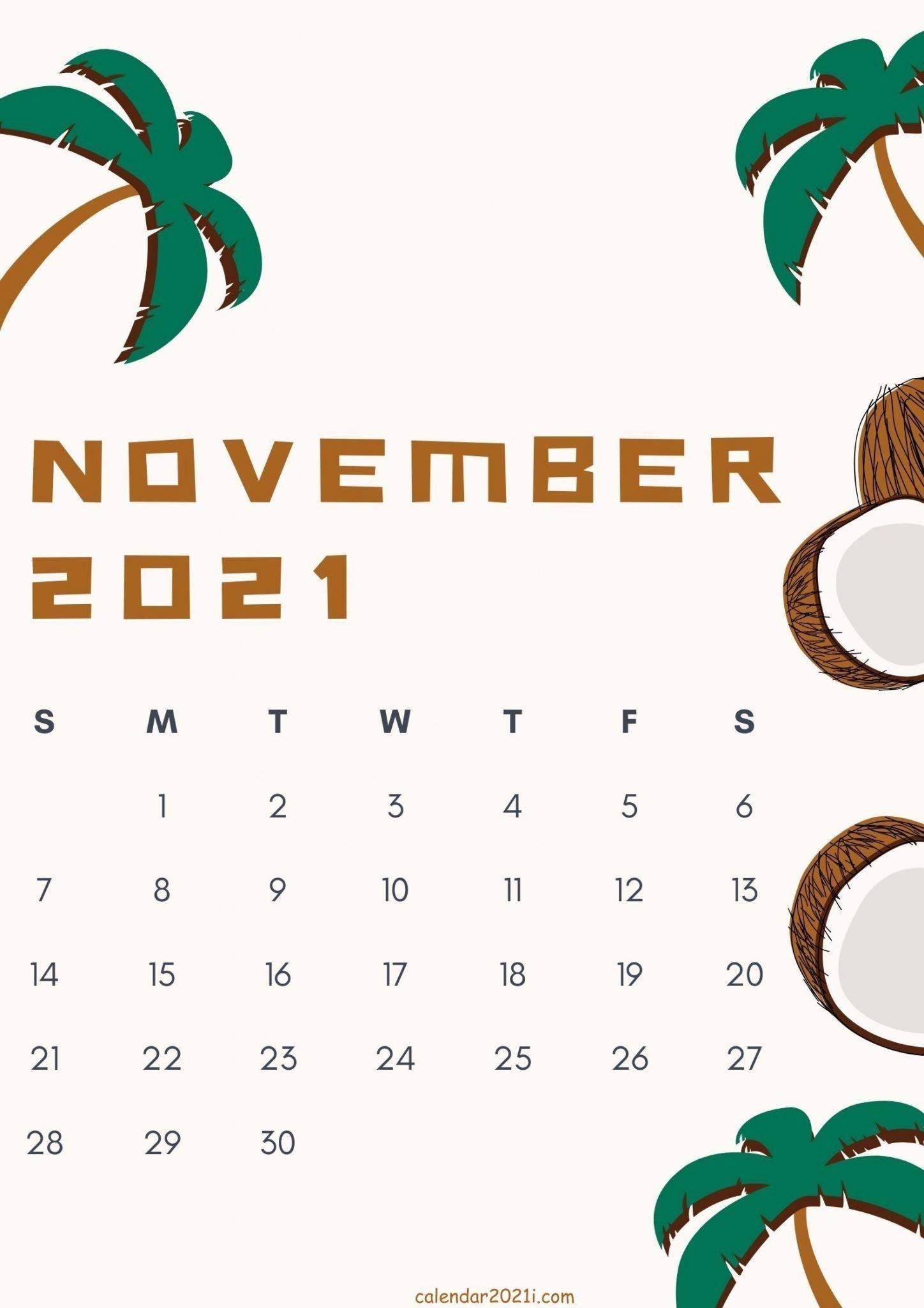 Catch November 2021 Calendar Cute