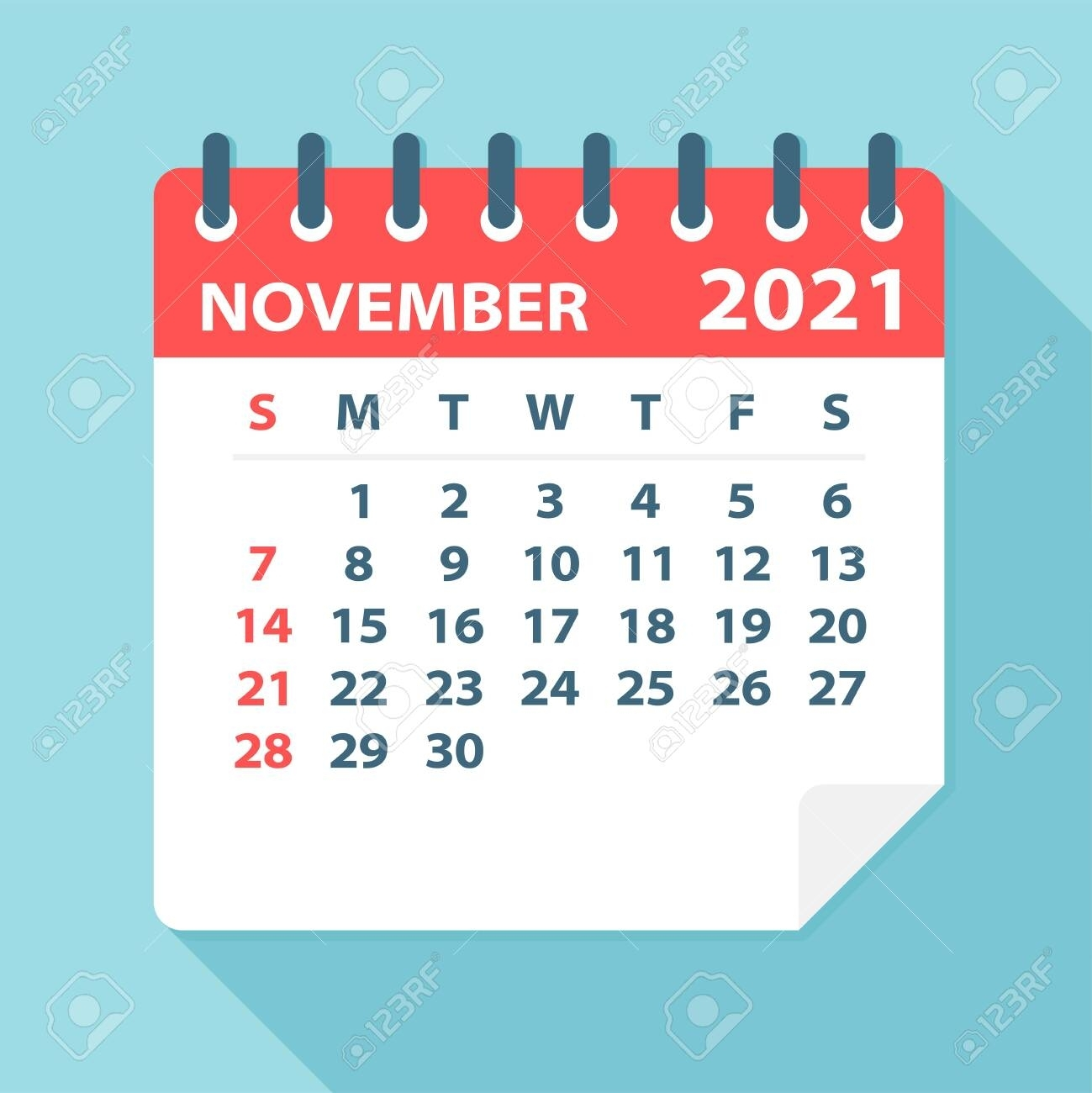 Catch November 2021 Clip Art
