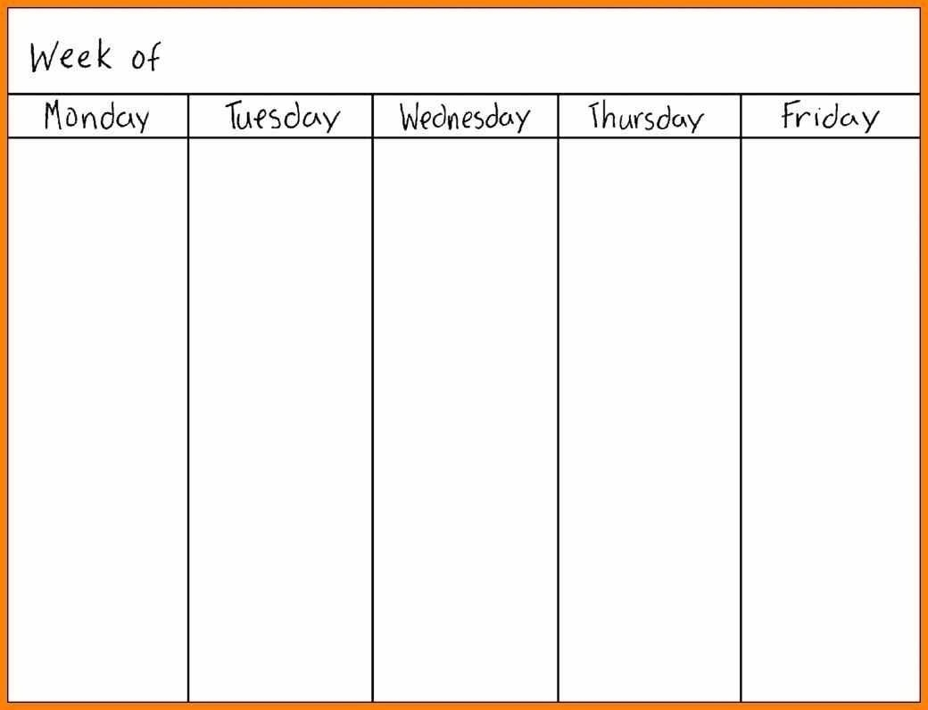 Catch Peek At The Week Template