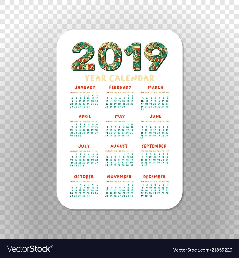 Catch Pocket Calendar Template