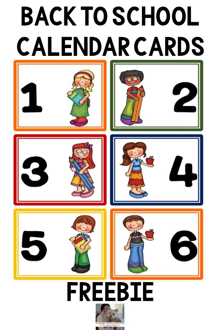 Catch Preschool Numbers To Put On A Calendar For August 1 31