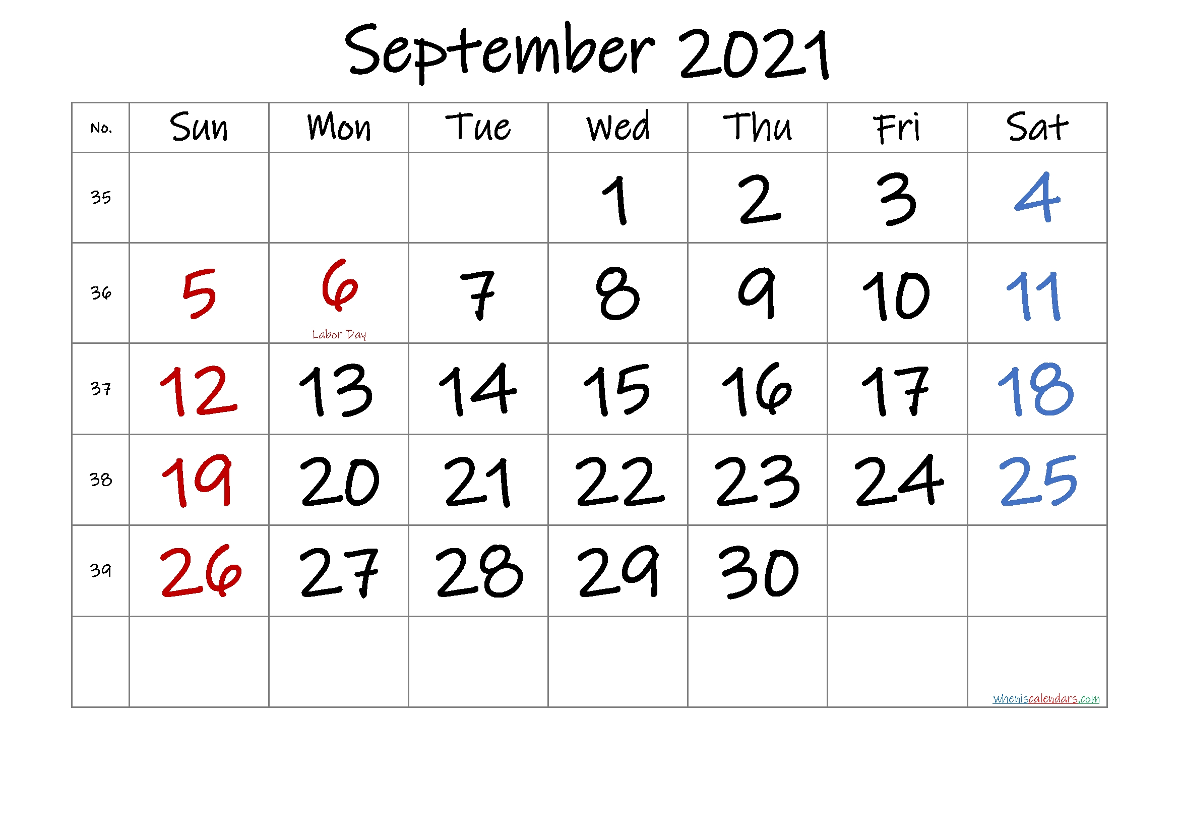 Catch Printable Blank Calendar 2021 Monthly No Download