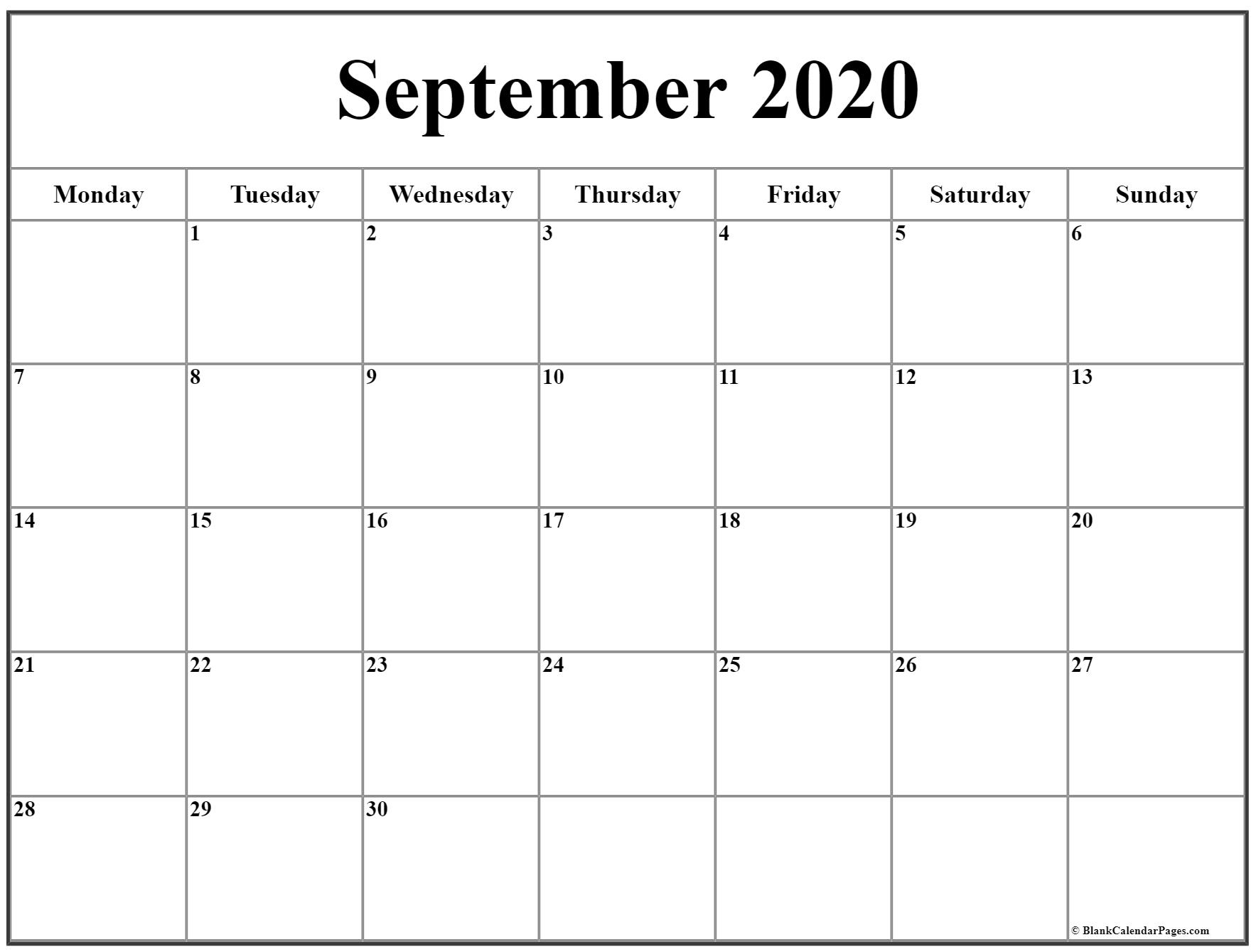 Catch Printable Calendar Monday Sunday