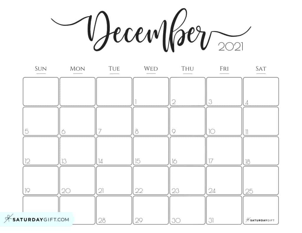 Catch Printable Monthly Calendar December 2021